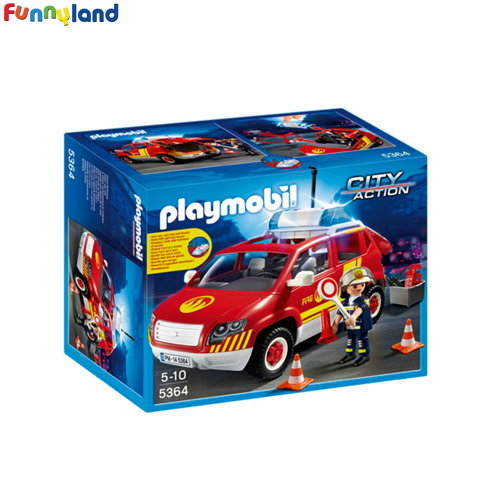Playmobil 5364 Fire Chief´s Car with Lights and Sound