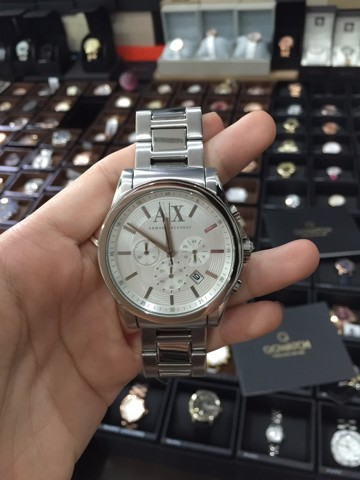 Armani Exchange Unisex Silver Stainless Steel Watch AX2058