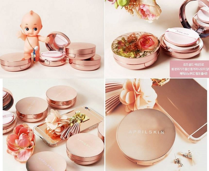 Phấn nước April Skin Magic Snow Cushion Pink SPF50++ PA+++