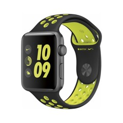  Apple Watch Nike+ 42mm Space Gray Aluminum Case Black/Volt Nike Sport Band