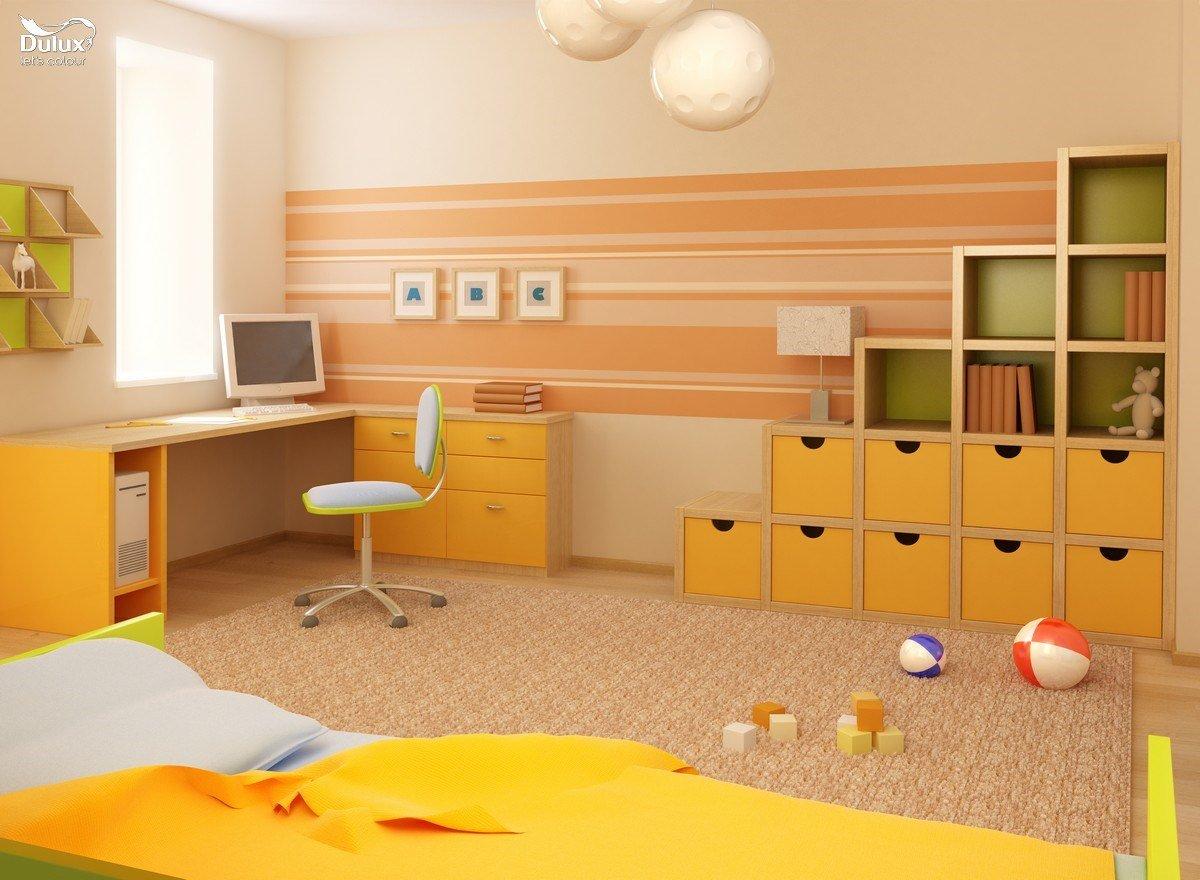 Nội thất không gian cho bé với chủ đề Sắc màu tuổi thơ