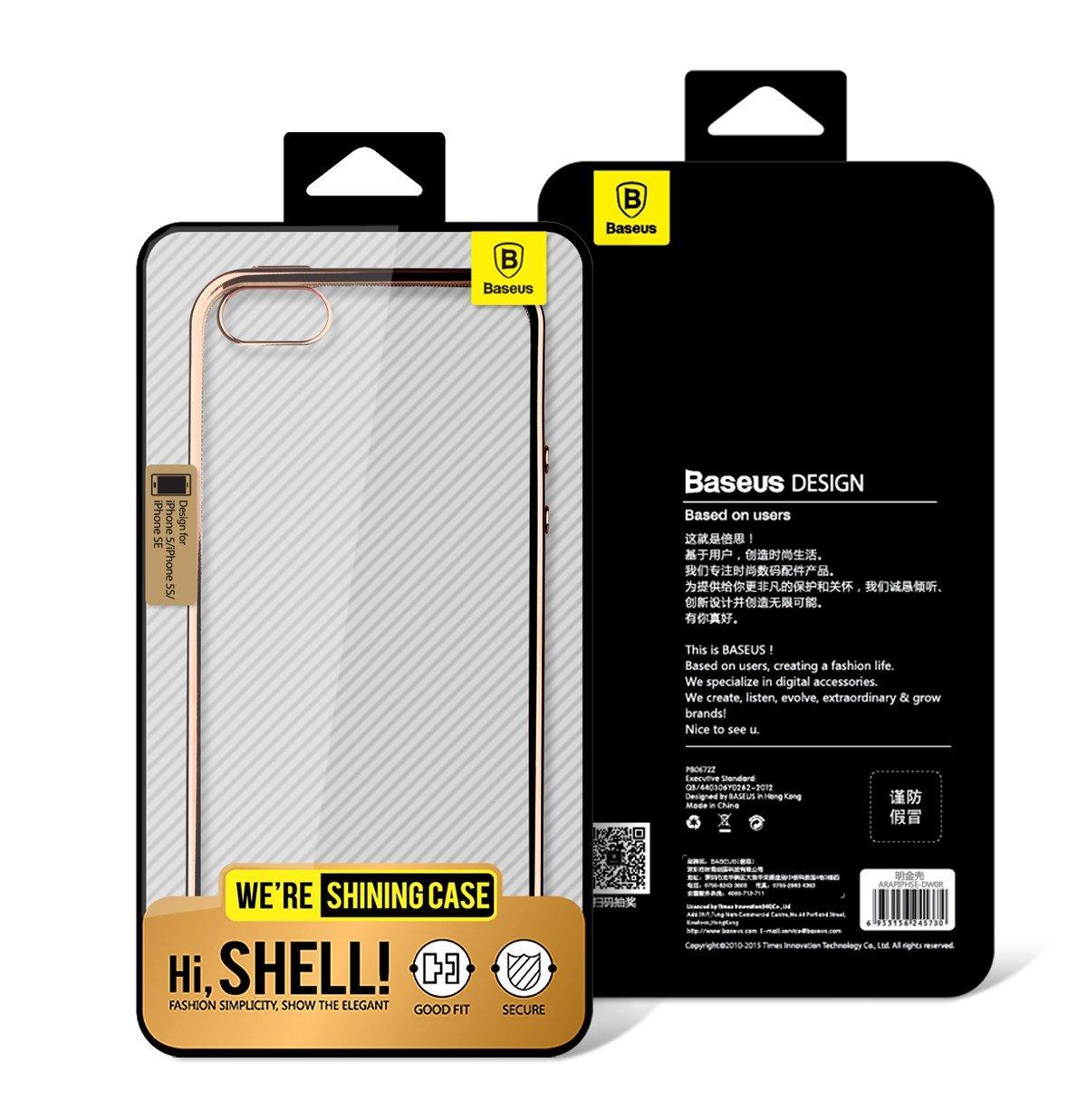 Ốp lưng iPhone 6/6S Baseus Shining mạ viền (nhựa TPU cao cấp, trong suốt, đàn hồi, chống va đập)