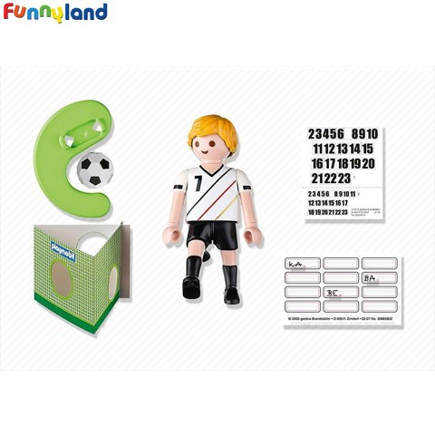 Playmobil 4729 Germany Soccer Player Toy