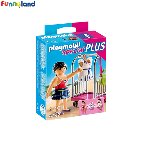 Playmobil 4792 Model with Clothing Rack