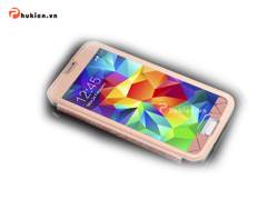Bao da Full-view Samsung S5 - Baseus (Rose Gold)