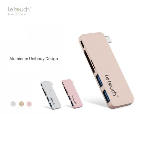 Bộ chia cổng Le Touch USB-C 5 in 1 type-C Combo Hub