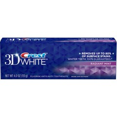 KDR Crest 3D White Removes Up To 80% 150ML