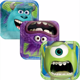 Dĩa giấy Monsters Inc. nhỏ 18cm - Monsters Inc. small plates 18cm