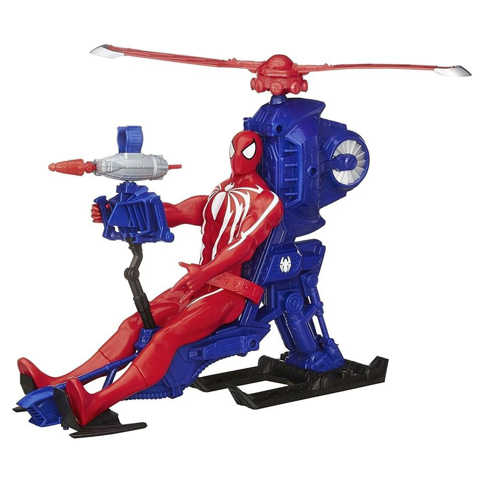 Mô hình Marvel Spiderman Web Warrious with Copter - MH 2067_1