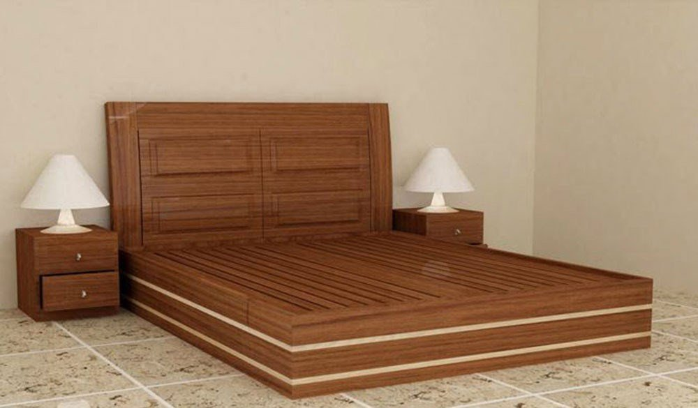 Wooden Bed 012