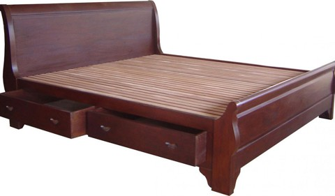 Wooden Bed 016