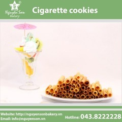Cigarette cookies
