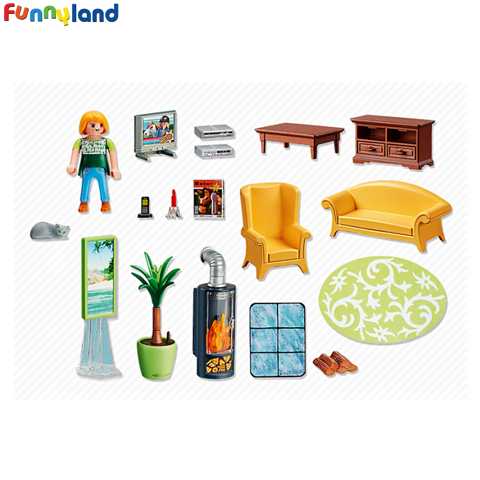 Playmobil 5308 Sitting Room with fireplace