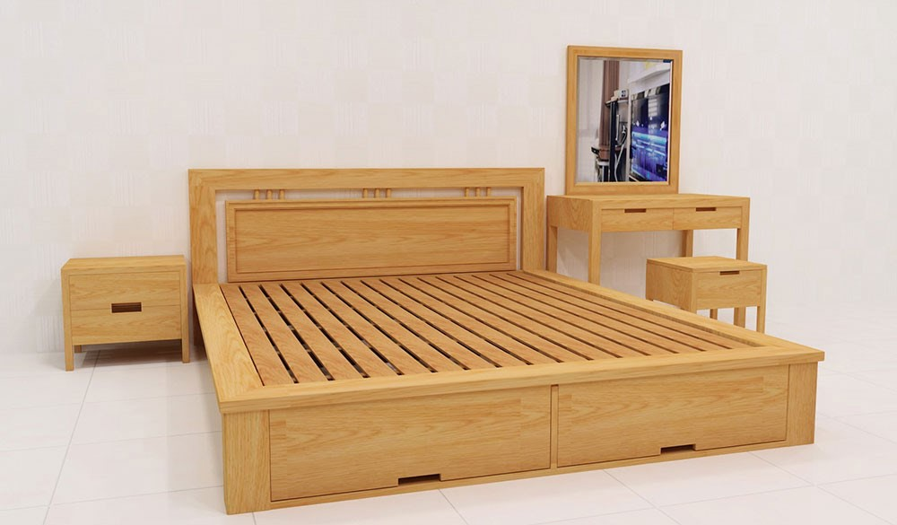 Wooden Bed 003