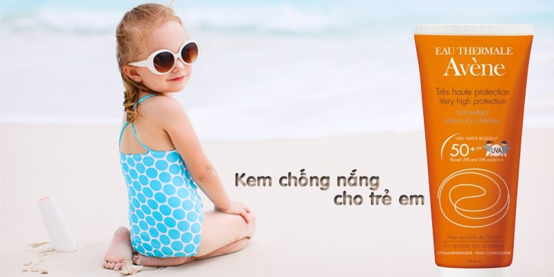 lotion chong nang danh cho tre em avene protection lotion for children spf50 100ml