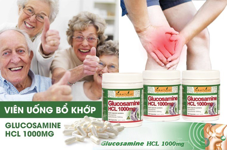 Vien bo khop Nature's Care Glucosamine HCL 1000mg