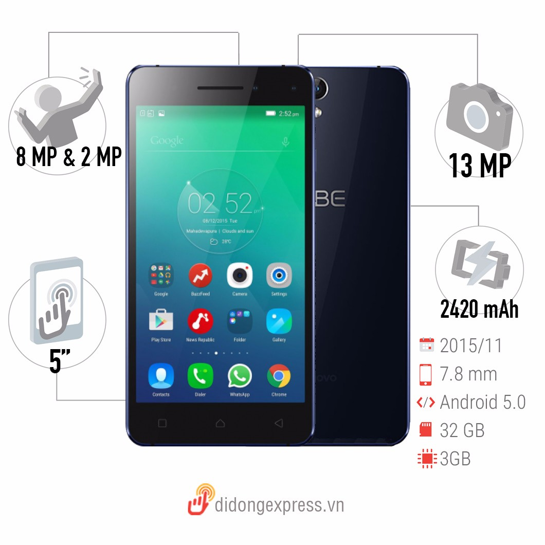 Lenovo Vibe S1 32GB  Blue