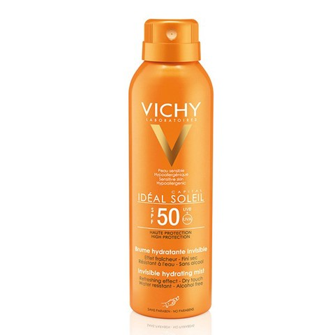 xit chong nang toan than vichy ideal soleil invisible hydramist dry touch finish spf 50