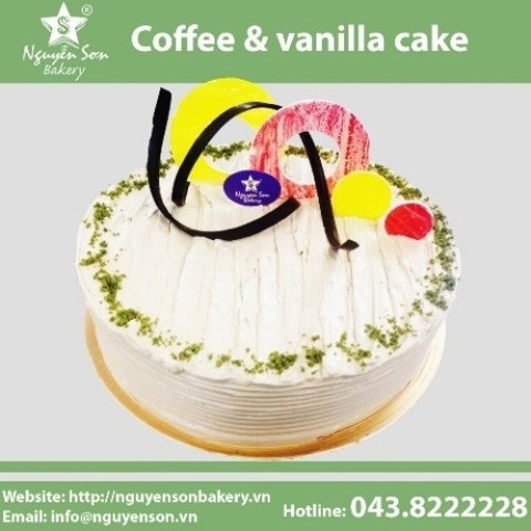 Coffee & vanilla cake
