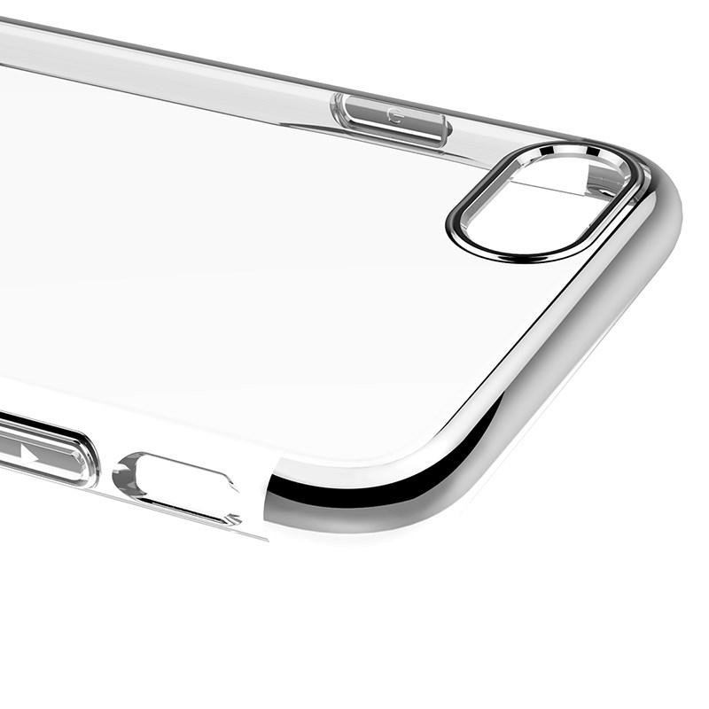 Ốp lưng iPhone 8 / iPhone 7 Tuxedo Elektro 3D mạ viền, nhựa cao cấp trong suốt, chốngxước, tăng độ bóng