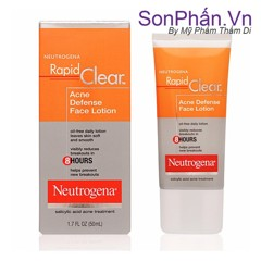 Kem Dưỡng Da Trị Mụn NEUTROGENA Rapid Clear Acne Defense Face Lotion 50ml