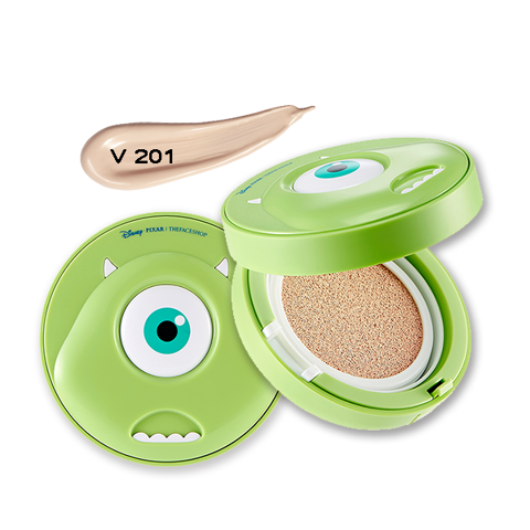Phấn Nước Đa Năng THEFACESHOP CC LONG LASTING CUSHION SPF 50+ PA+++ V201 (MONSTER) (DISNEY)
