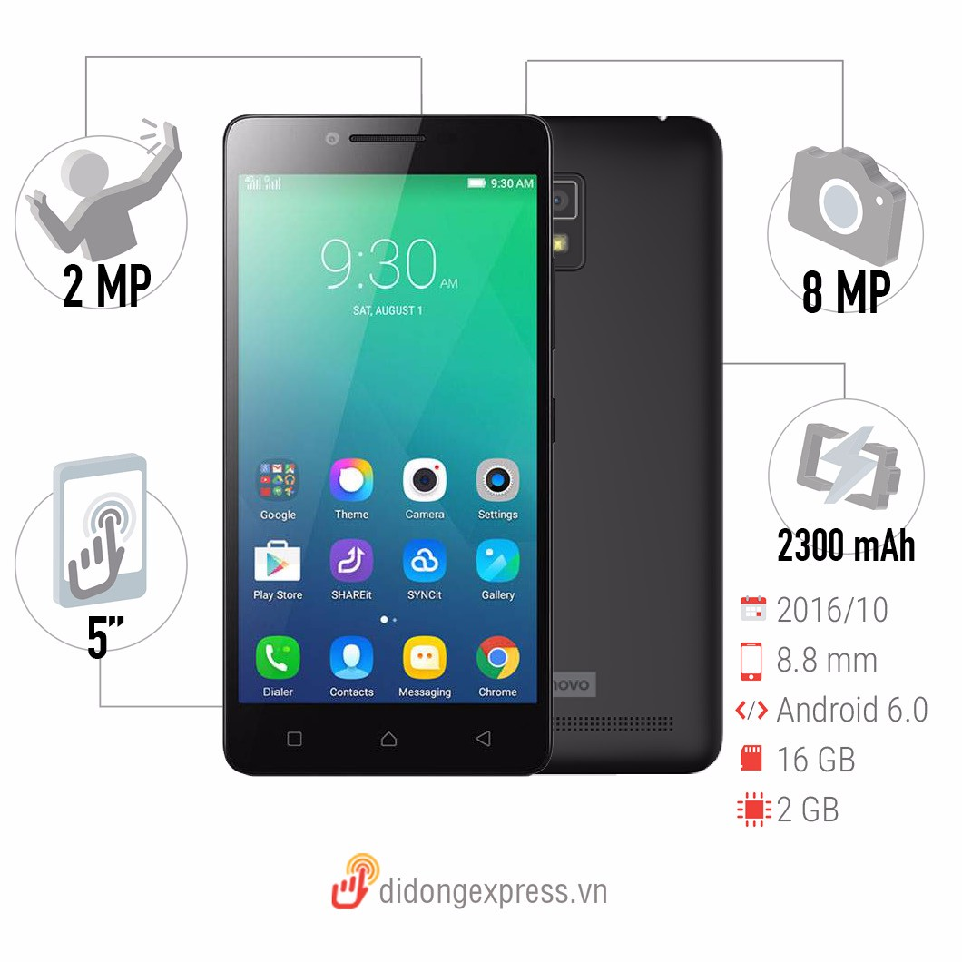 lenovo a6600 plus 16gb dual black