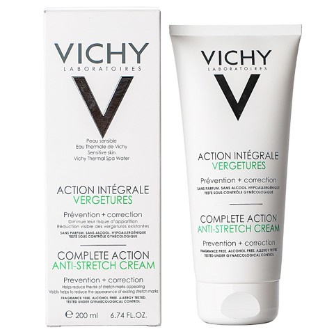 kem duong giam ran da vichy complete action anti stretch cream