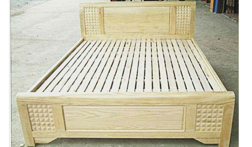 Wooden Bed 017