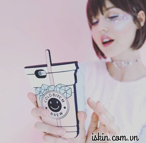 OL IP7 Ly Nước Valfie Cold Bitch Brew, silicon dẻo nổi