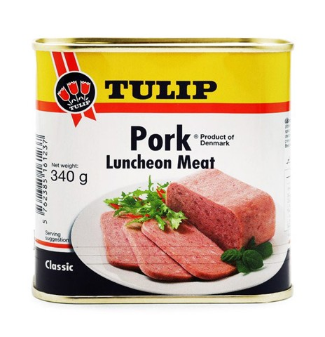 Thịt Heo Hộp Tulip Pork Luncheon Meat With Bacon 340Gg
