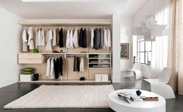 Gợi ý sử dụng vách ngăn kết hợp tủ quần áo