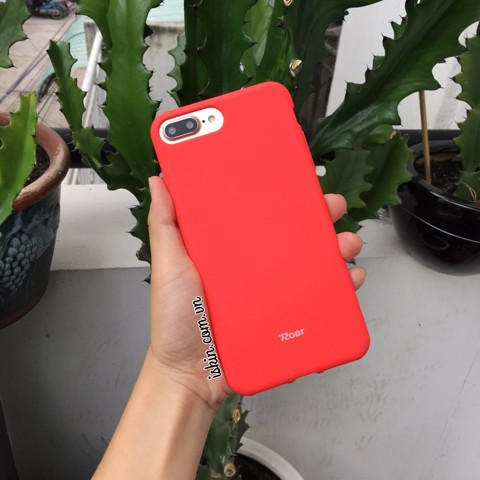 Ốp Lưng Iphone 7 Roar All Day Hàn Quốc Silicon Dẻo Nhung Giống Apple Case