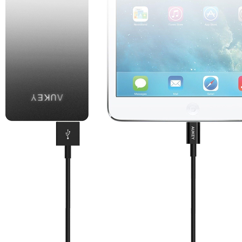 Cáp sạc điện thoại Aukey CB-D8 Lightning USB, dài 20cm, chuẩn MFI