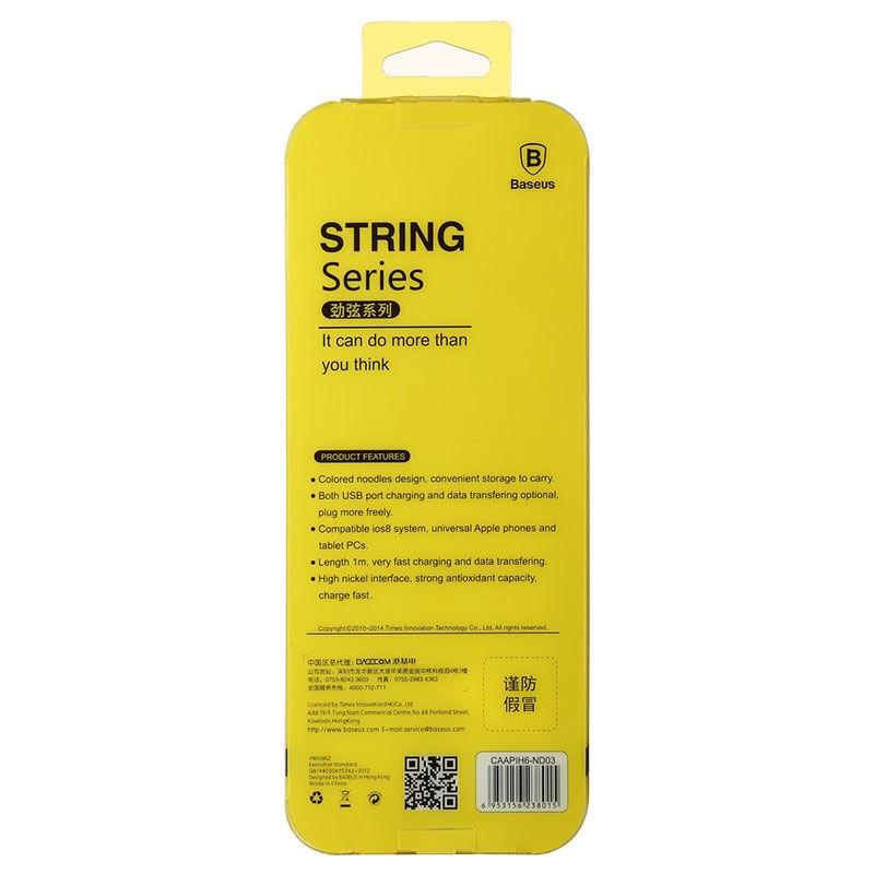 Cáp sạc điện thoại Baseus String Series Lightning USB dài 1m