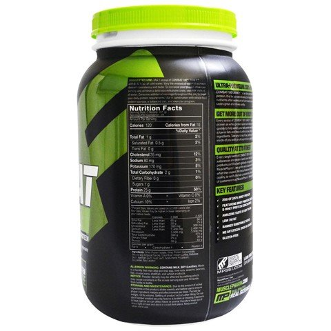sua tang co tang can mp combat 100 whey chocolate milk 907g