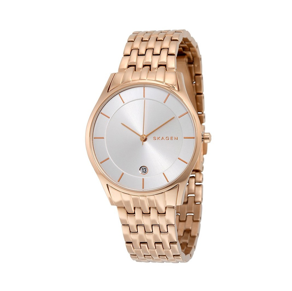 Đồng hồ nữ SKAGEN Holst Silver Dial Rose Gold-Tone Stainless Steel Ladies Watch