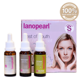 bo 3 serum tre hoa da cho da nhay cam lanopearl best of youth serum gift set
