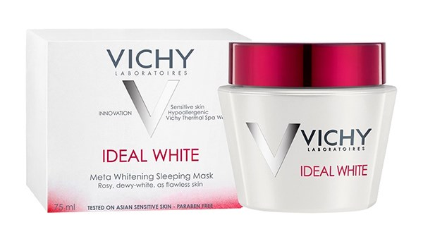 mat na ngu duong trang da ban dem vichy ideal white whitening sleeping mask 75ml