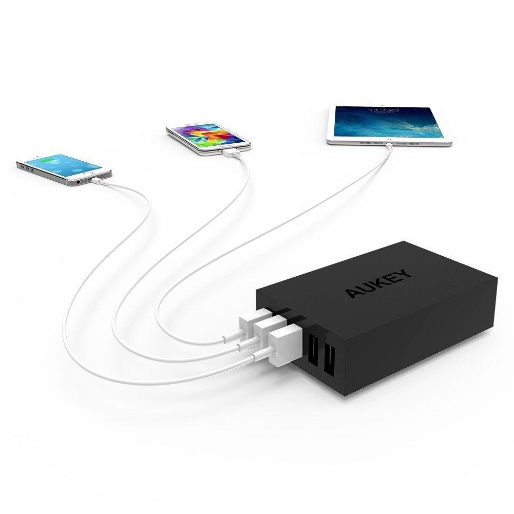 Sạc điện thoại Aukey PA-U13 ( 5 cổng USB 40W), 5x  AiPower 5V/8A (Max)