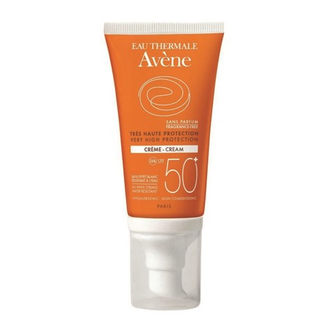 kem chong nang avene very high protection cream 50+ fragrance free 50ml danh cho da kich ung
