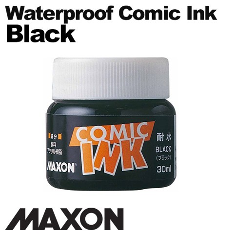 Mực vẽ comic Maxon, waterproof Black