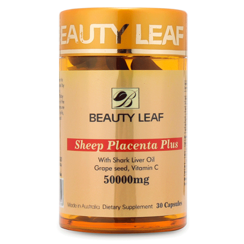 vien uong nhau thai cuu beauty leaf sheep placenta plus 50000mg