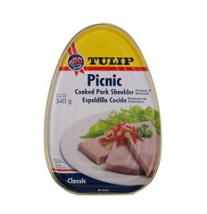 Thịt Heo Hộp Tulip Picnic Cooked Pork Shoulder 340g