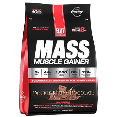elite labs mass muscle gainer 10lbs strawberry