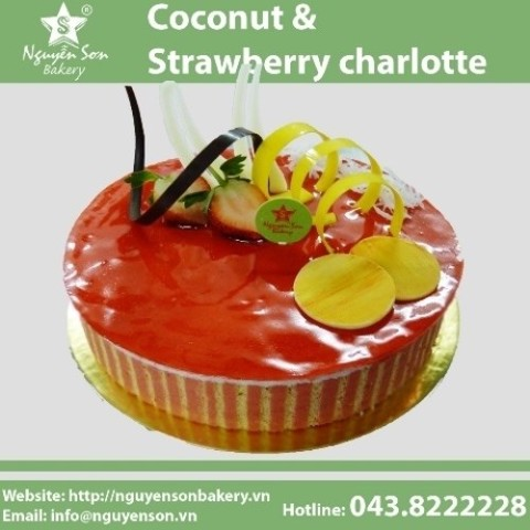 Coconut & Strawberry charlotte